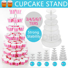 3/4/5/6/7 Tier Clear Acrylic Round Cupcake Cake Stand Wedding Birthday Party HOT