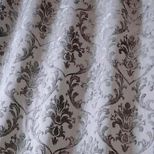 SMD iLiv Boheme Damask Chenille Furnishing Curtain Fabric - Granite