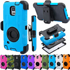 Rugged Hybrid Shockproof Case Cover Clip Holster For Samsung Galaxy Note 5 4 New