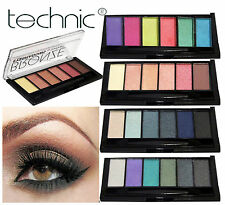 Technic 6 Colour Eye Shadow Palette Smokey Bright, Nude, Sultry, Bronze & Matte