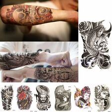 Large Sexy Tattoo Skull Temporary Pattern Body Arm Art Stickers Black Removable