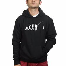 Mens Evolution of Fisherman Fishing Funny Sweatshirt Hoodie - Rod Tackle Bait