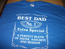 BEST DAD T-SHIRT all sizes and colours BRAND NEW BIRTHDAY CHRISTMAS FATHERS GIFT