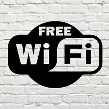 Free WIFI Window Sign Vinyl Sticker Graphics Cafe Shop Salon Bar Restaurant Art