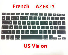 """AZERTY French US Keyboard Cover Skin for Apple Macbook Air Pro Retina 13 15"""" 17"""""""