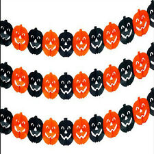 Halloween Props Garland Pumpkin Spider Hanging Ghost Paper Party Decor Scary e