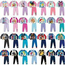 Boys Girls Kids Disney Character Long Short Sleeve Pyjamas pjs Age 1-10