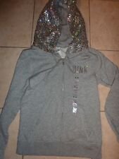 """VICTORIAS SECRET PINK RARE BLING LIMITED EDITION """"WREATH"""" """"P"""" """"PINK"""" HOODIE NWT"""