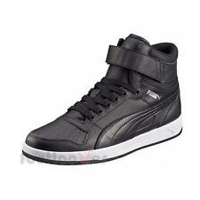 Shoes Puma Liza Mid 358765 03 Black Sneakers Women's Leather Moda Fashion Basket