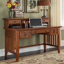 Cottage Oak Writing Desk With Hutch Mission Exec Home Office Computer Secretary