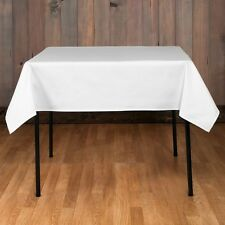 "5 Square Tablecloths 54x54"" inch Polyester Table Overlay 23 COLOR Restaurant USA"