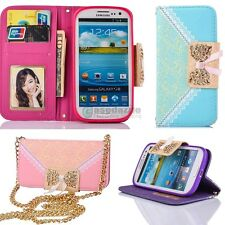 New PU Leather Flip Case Wallet Card Holder Cover For Samsung Galaxy S3 i9300