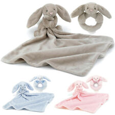 NEW Jellycat Bashful Bunny Ring Rattle PLUS Soother - Baby Gift Set Newborn