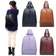 Women Backpack Ladies Rucksuck Soft PU Zipper School Bag Shoulder Bag Girls S2XA
