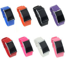 Hot Sale Unisex LED Alarm Date Digital Sports Rubber Bracelet Wrist Watch