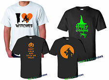 HAPPY HALLOWEEN unisex occasion T shirt ghost pumpkin whitches gift funny