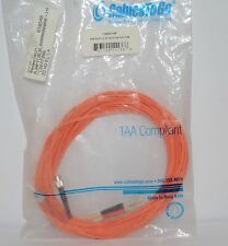 10M FIBER MULTIMEDIA LC-ST 62.5 / 125 DUPLEX TAA PATCH CABLE