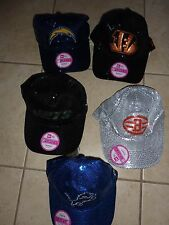 VICTORIAS SECRET PINK BLING SEQUIN NFL FOOTBALL CAP HAT CHOICE NWT