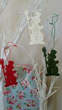 Snowman Wooden Shapes Crafts, Gift Tags, Christmas Tree Decoration Green