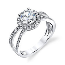 3 Carat Total Sterling Silver Bridal CZ Engagement Wedding Ring Cubic Zirconia