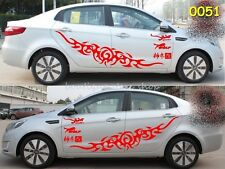 Totem Fire Lightning flame sport Door Engine hood Whole body car stickers Decals