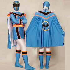 Blue Power Rangers Mystic Force cosplay adult Halloween costumes bodysuit cape
