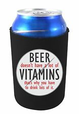 Coolie Junction Beer Doesn't Have A Lot of Vitamins Funny Can Coolie, Neoprene