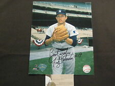 NEW YORK YANKEE GREAT PITCHER FRITZ PETERSON INSCRIBED AUTOGRAPH PHOTO W/COA