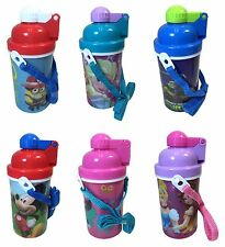 Disney Frozen Minions Canteen Popup Lid Water Bottle Boys Girls Tumbler Cup