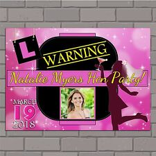 Personalised Bachelorette Hen Night Party PHOTO Poster Banner N43 Favours