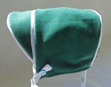 New Handmade Green Brushed Corduroy with Plaid Flannel Lining Baby Boy Hat