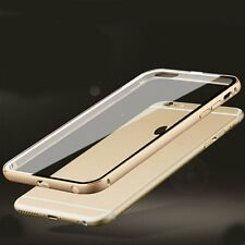 Luxury Aluminum Metal Bumper Clear Acrylic Back Case Cover for iPhone 6 6s Plus