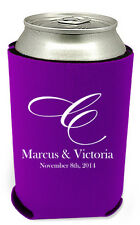 250 Personalized Custom Can Koozies Coolies Wedding Favors Quick Turnaround