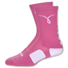 Nike Men's Athletic Dri Fit Elite Crew Socks SX4512- 611 Pink Breast Cancer Logo