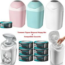 Tommee Tippee Sangenic Nappy Sacks Disposal BIn Tub & Compatible Refill Cassette