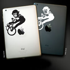 iPad / Tablet Sticker decal, BMX Monkey Graffiti Style, All sizes, Two colours