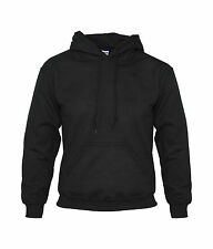 UNISEX PULLOVER HOODED SWEATSHIRT HOODIE HOODY JACKET PLAIN BLACK BLANK **NEW**