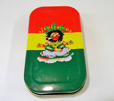 Afrolicious Smoking Emotions 1oz Hinged Lid Tobacco Tin with Many Standard books