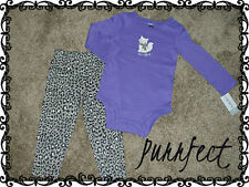 Carters Baby Girls Clothes NWT Leopard Outfit Set Size NB 3 6 9 12 18 24 months