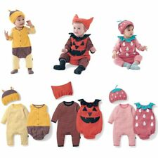 Baby Boy Girl Halloween Fancy Party Costume Dress Outfits Clothes+Hat Set 3-24M