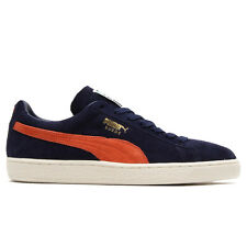 Puma Suede Classic + NAVY Mens Sneakers peacoat-nasturtium Trainers Casual Shoes