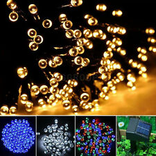 100 200 300 LED Solar Power Fairy String Xmas Tree Party Lights Garden Outdoor