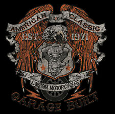American Classic Custom Motorcycles Eagle Garage Built Est. 1971 T-Shirt Tee