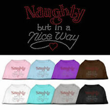 Dog Shirts - NAUGHTY BUT NICE Rhinestone - Poly/Cotton *Many Sizes and Colors*