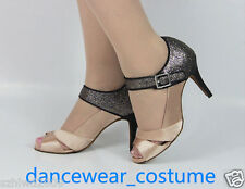Ladies Party Ballroom Latin Tango Samba Salsa Dance Heel Shoes Sandals US5-9 New