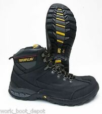 Caterpillar Dynamite Steel Toe Waterproof Slip Resistant Black Leather Work Boot