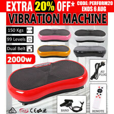 Vibration Machine Plate Platform Fitnesss Body Slim Exercise Shaper Massager NEW