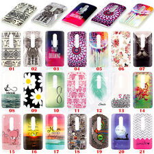 Cute Bear Flower Soft Silicone TPU Skin Case Cover for Motorola Moto G (3rd gen)