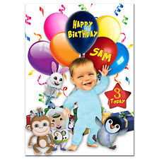 736; Large Personalised Birthday card; Baby Jake; for any name age to little