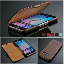 Luxury 100% Real Genuine Leather Flip Elegant Case Cover Skin for Samsung/iPhone